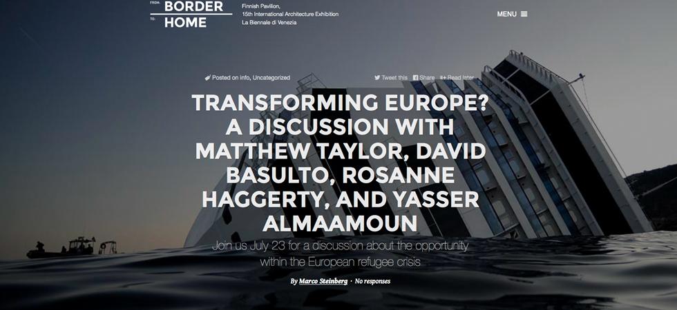 Dibattito di Architettura al Padiglione Finlandese a Venezia