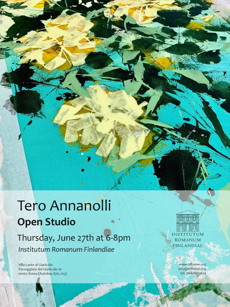 Studio visit con Tero Annanolli all'Institutum Romanum Finlandiae | Roma, 27.6