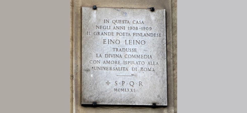 Eino Leino: la Divina Commedia tradotta con amore ispirato alla universalità di Roma
